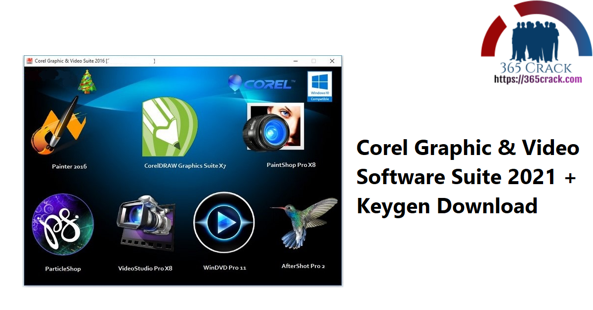 Corel Graphic & Video Software Suite 2021 + Keygen Download