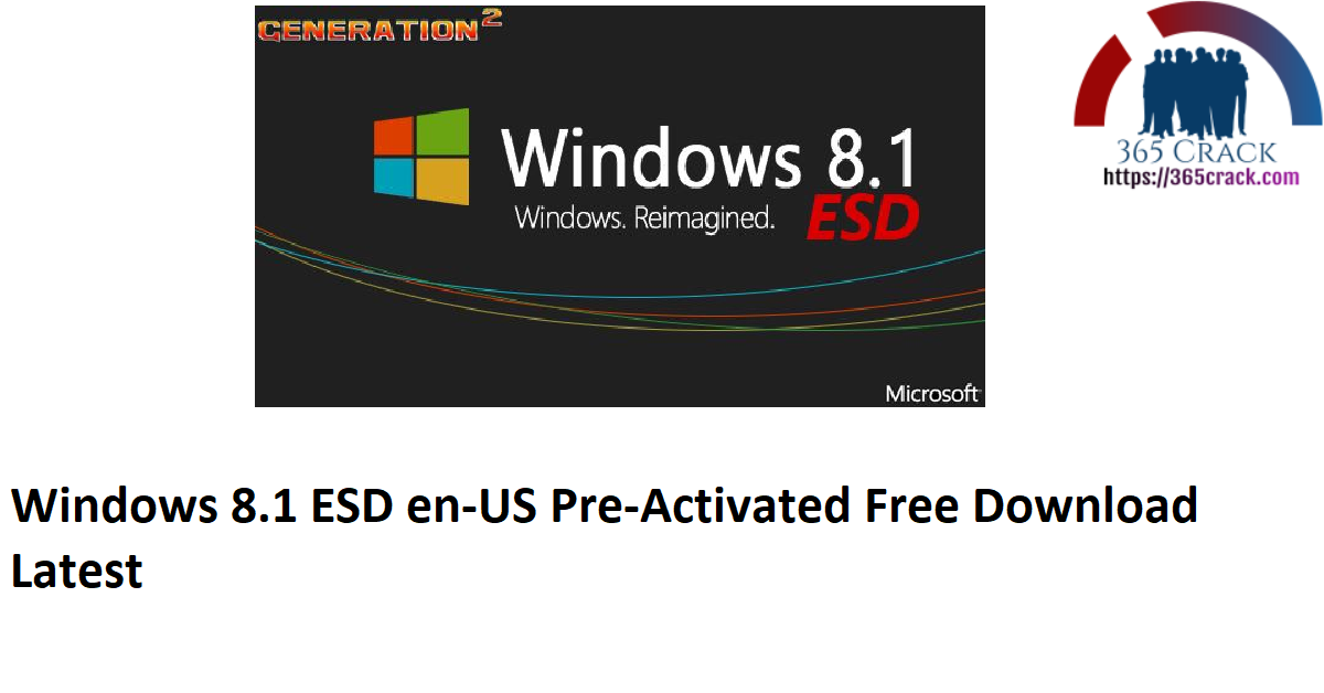 Windows 8.1 ESD en-US Pre-Activated Free Download Latest