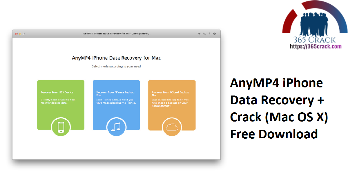 AnyMP4 iPhone Data Recovery + Crack (Mac OS X) Free Download
