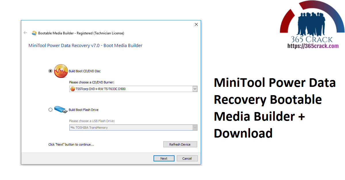 MiniTool Power Data Recovery Bootable Media Builder + Download