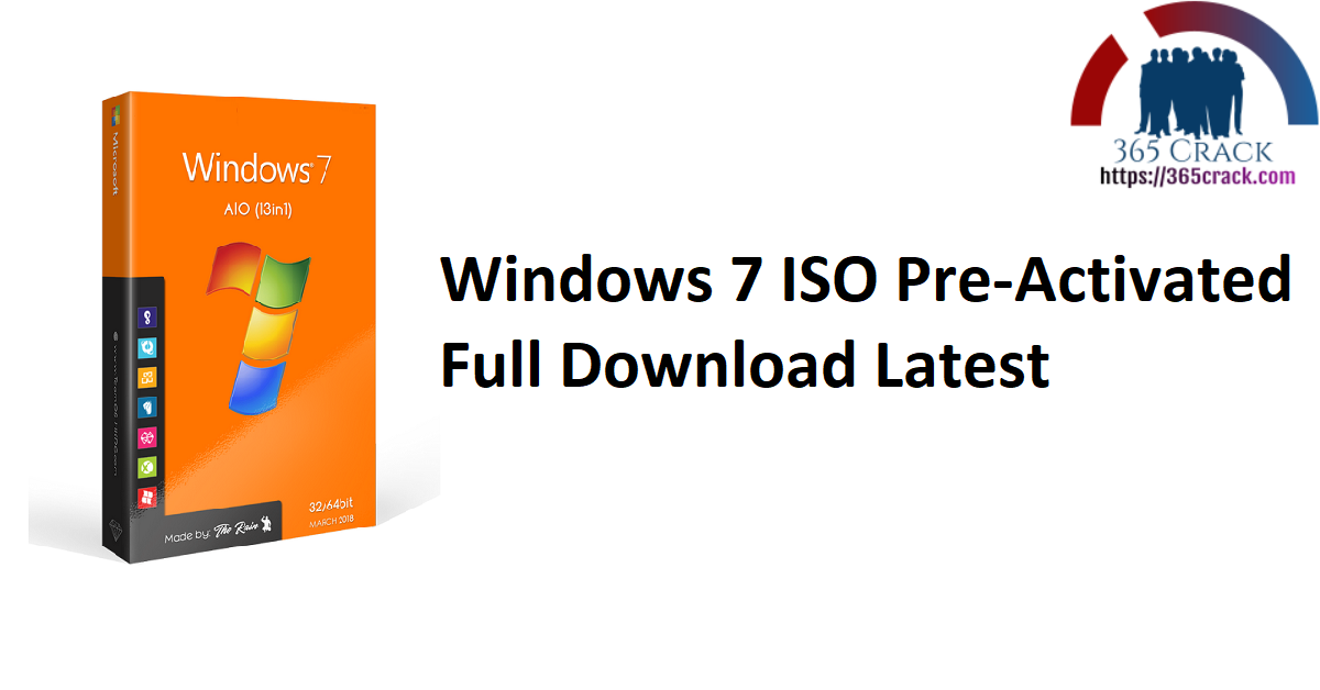 Windows 7 SP1 AIO 12in1 ISO (x86) Pre-Activated {2021}