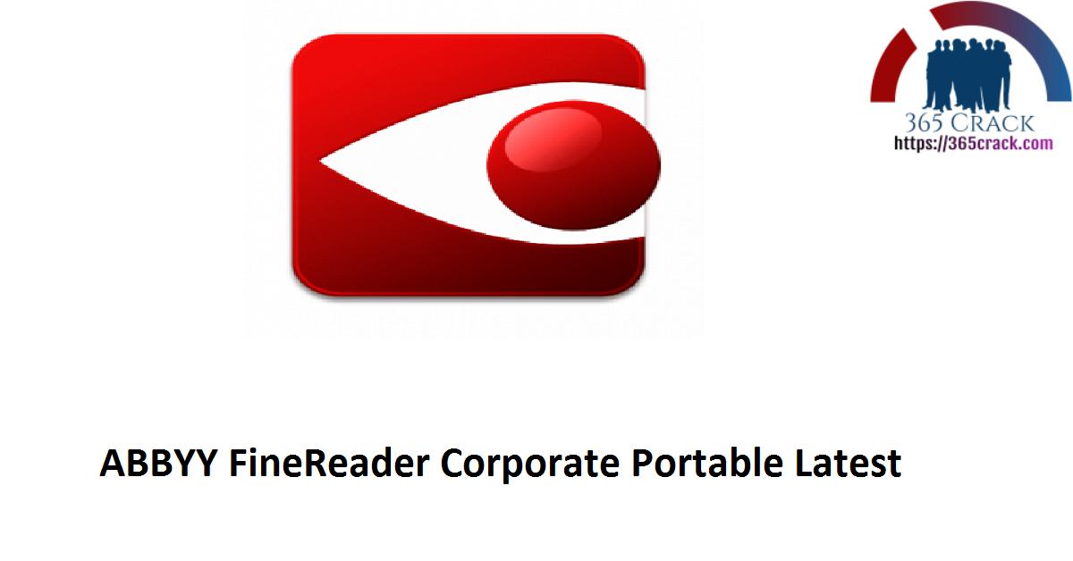 ABBYY FineReader Corporate Portable Latest
