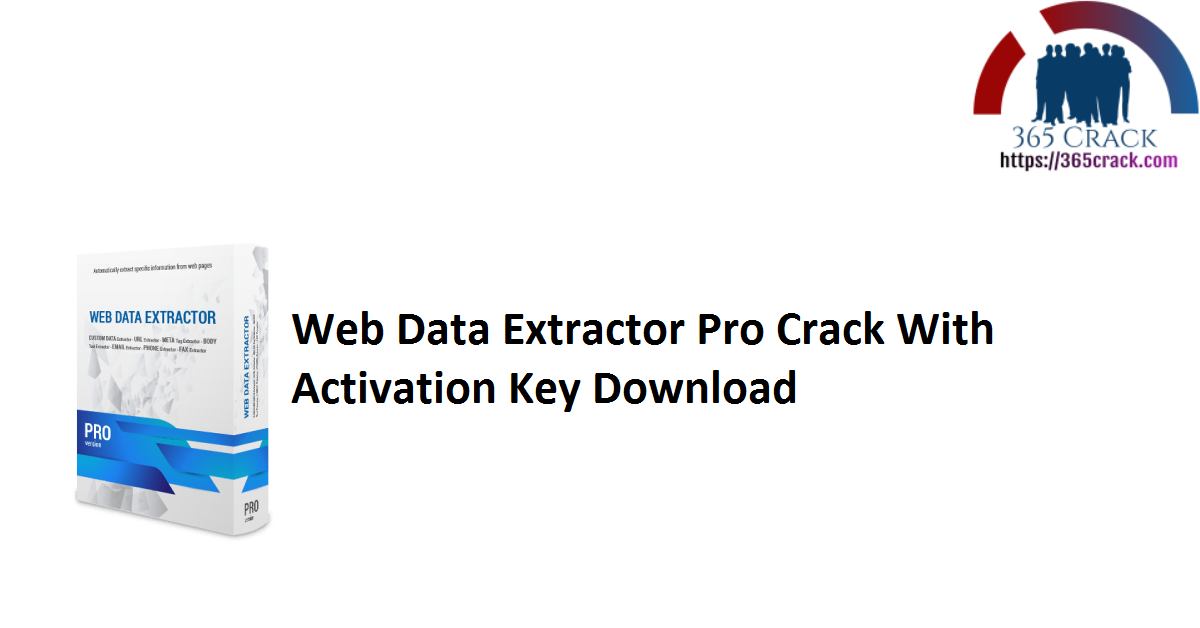 Web Data Extractor Pro Crack With Activation Key Download