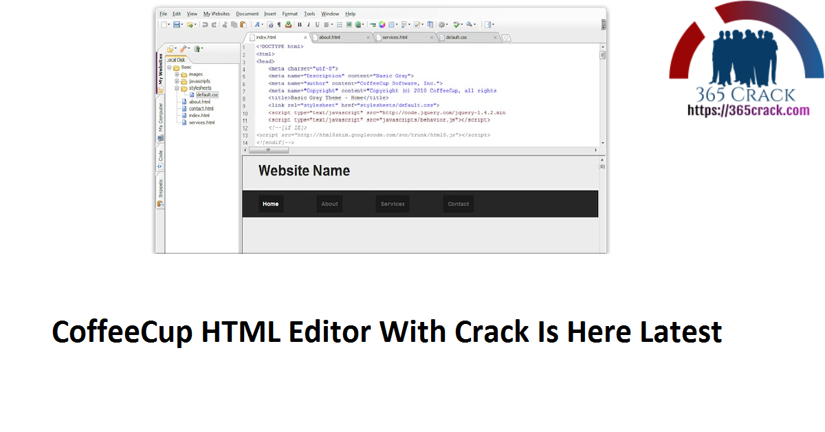 CoffeeCup HTML Editor With Crack Is Here Latest