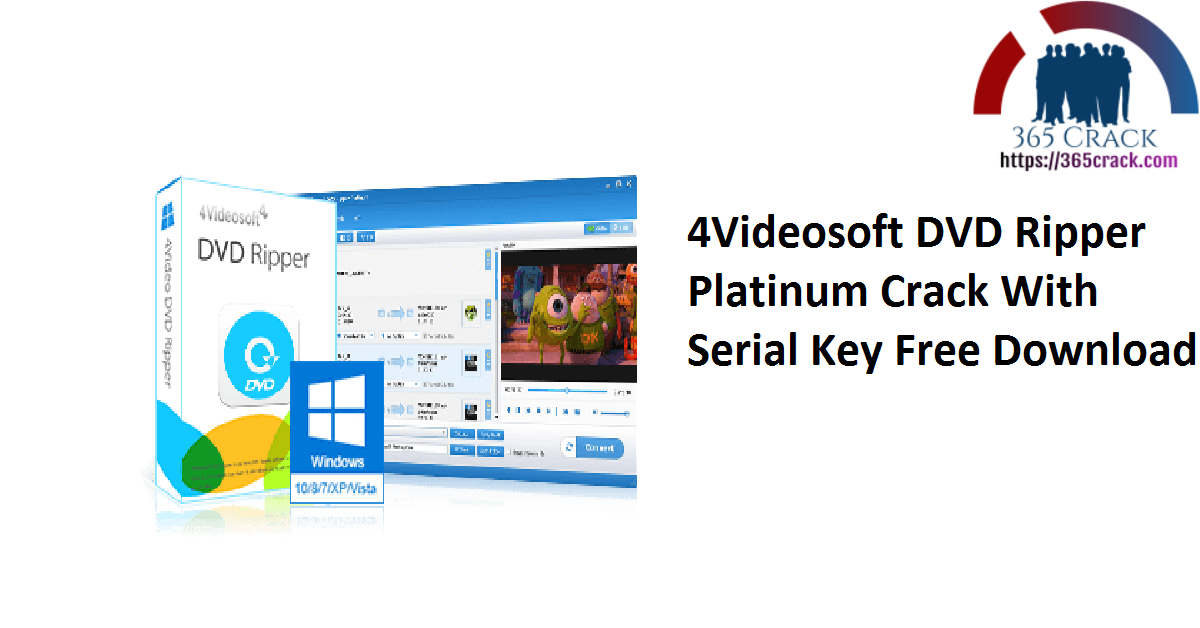 4Videosoft DVD Ripper Platinum Crack With Serial Key Free Download