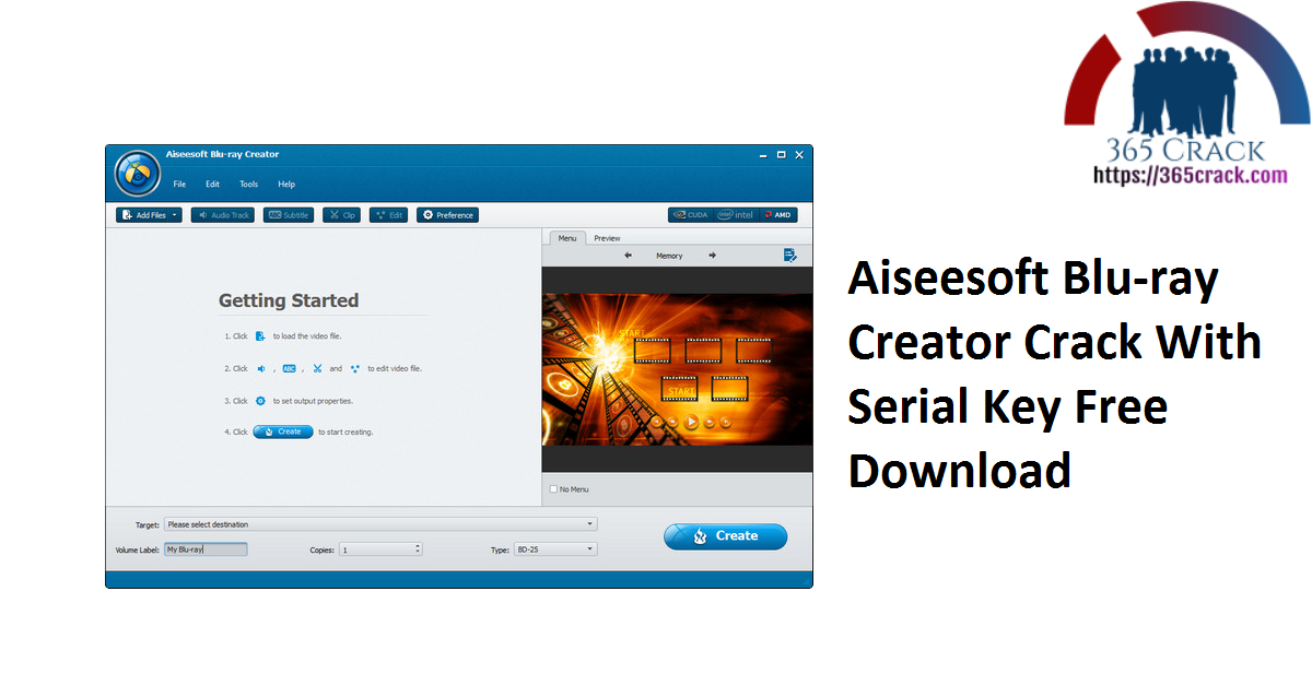 Aiseesoft Blu-ray Creator Crack With Serial Key Free Download