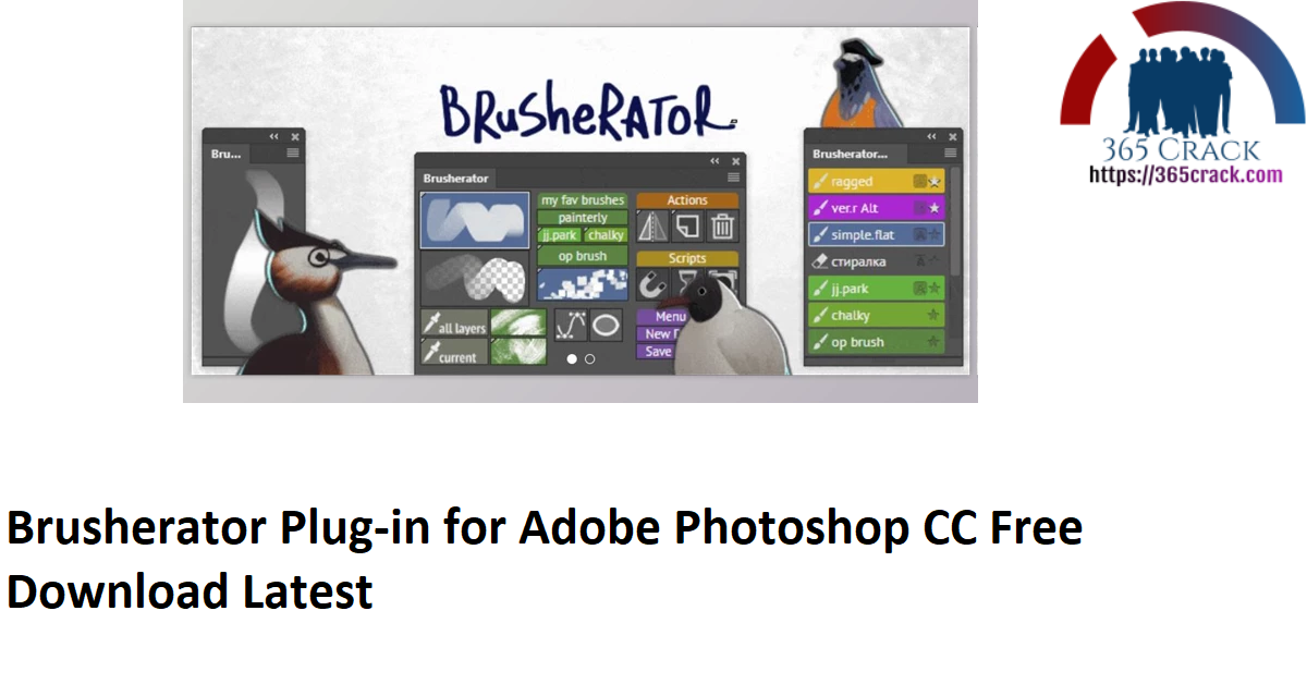Brusherator Plug-in for Adobe Photoshop CC Free Download Latest