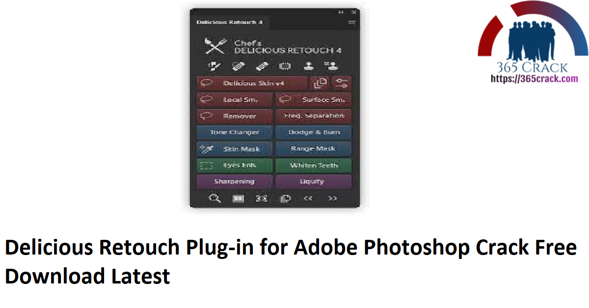 Delicious Retouch Plug-in for Adobe Photoshop Crack Free Download Latest