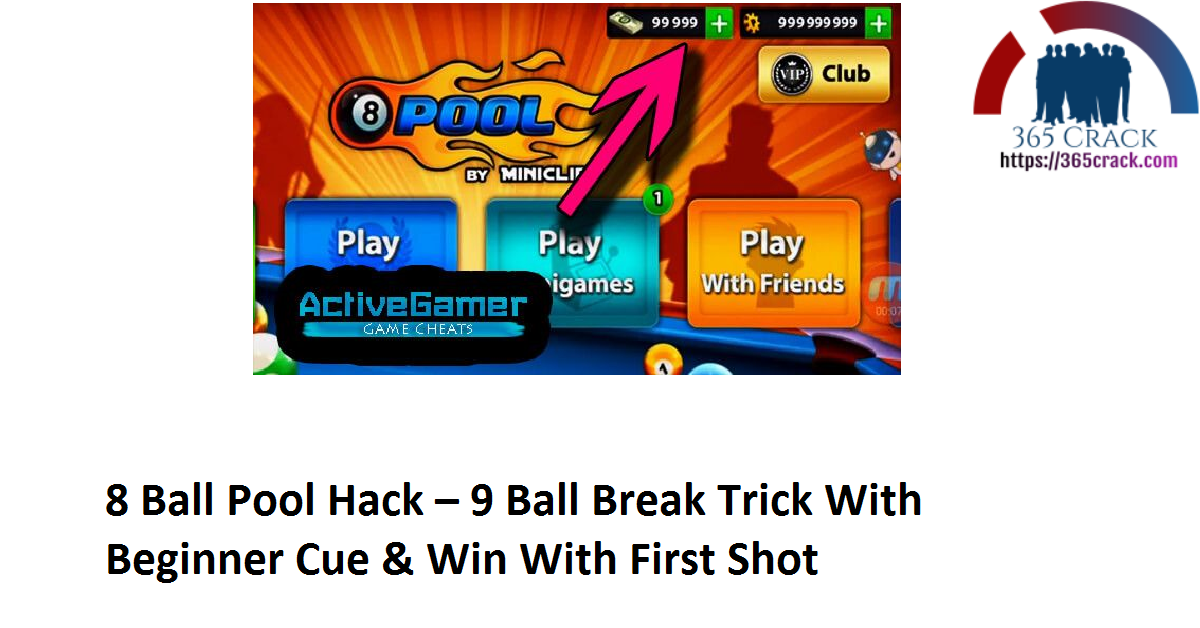 8 Ball Pool Hack – 9 Ball Break Trick With Beginner Cue & Win With First Shot