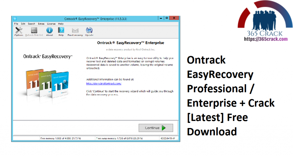 Ontrack EasyRecovery Professional Enterprise + Crack [Latest] Free Download