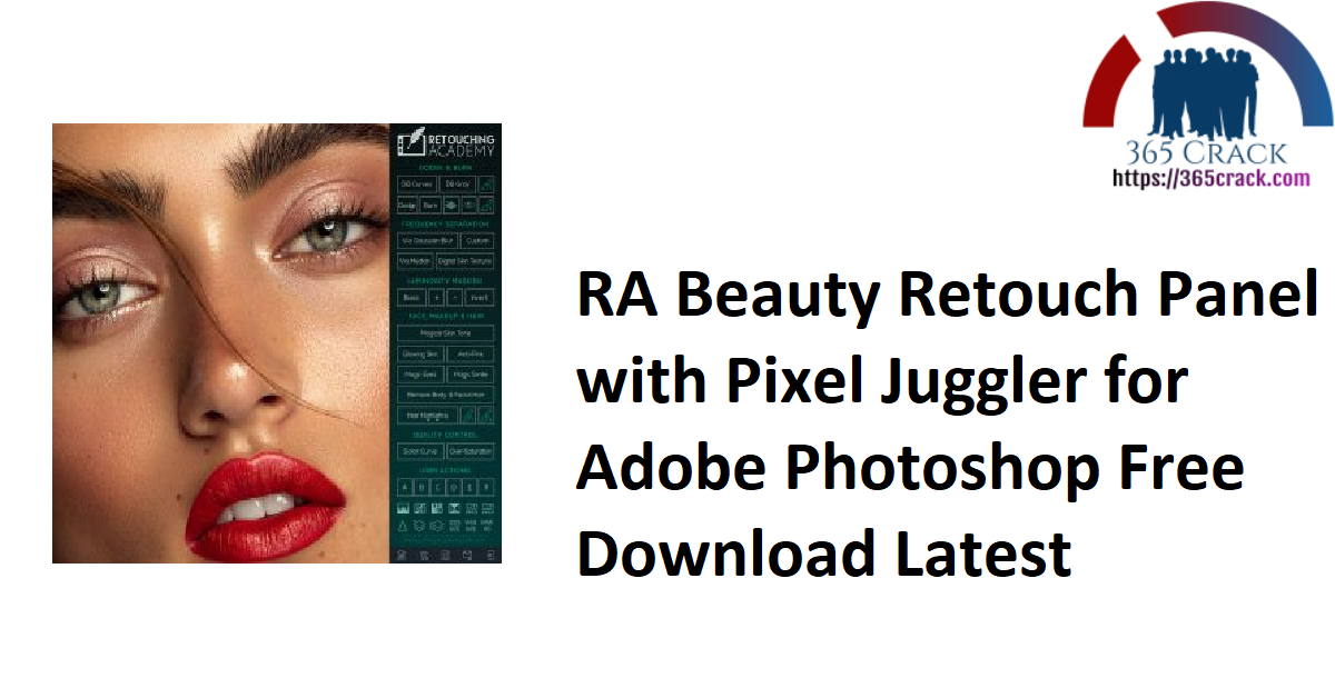 RA Beauty Retouch Panel with Pixel Juggler for Adobe Photoshop Free Download Latest