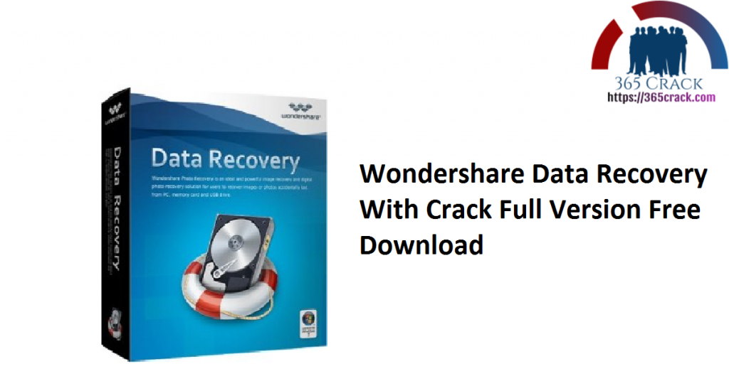 Wondershare Data Recovery With Crack Full Version Free Download