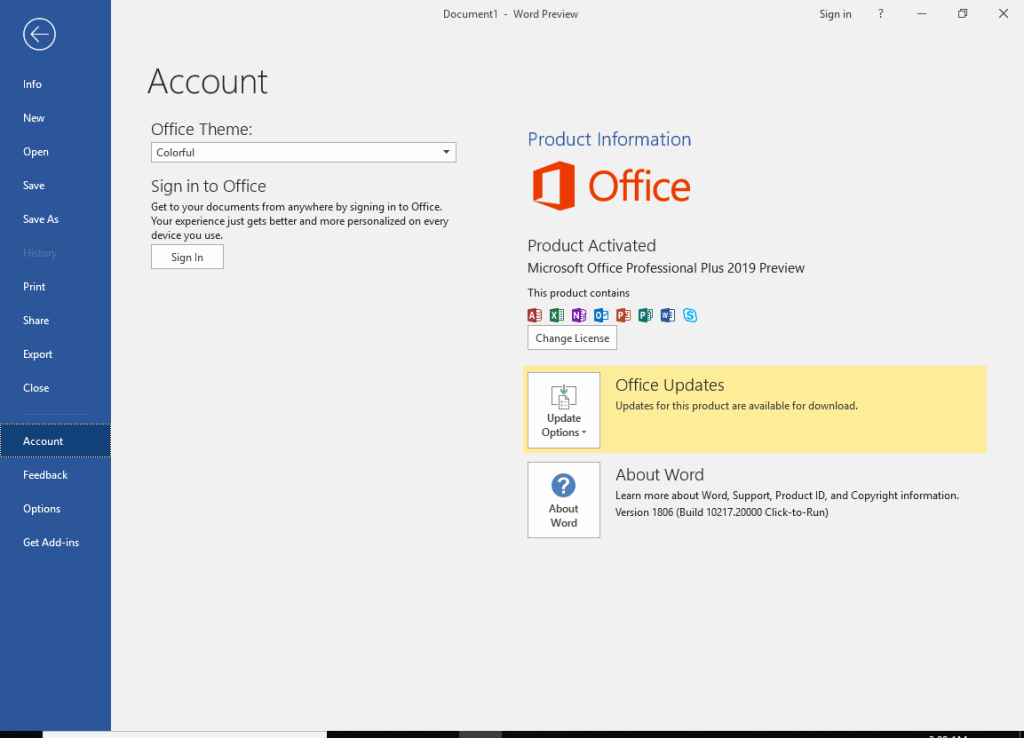 Microsoft Office Professional Plus VL 2019 Crack