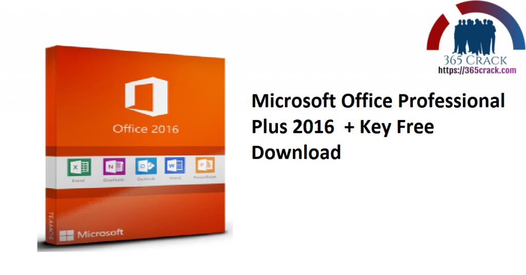Microsoft Office Professional Plus 2016 + Key Free Download