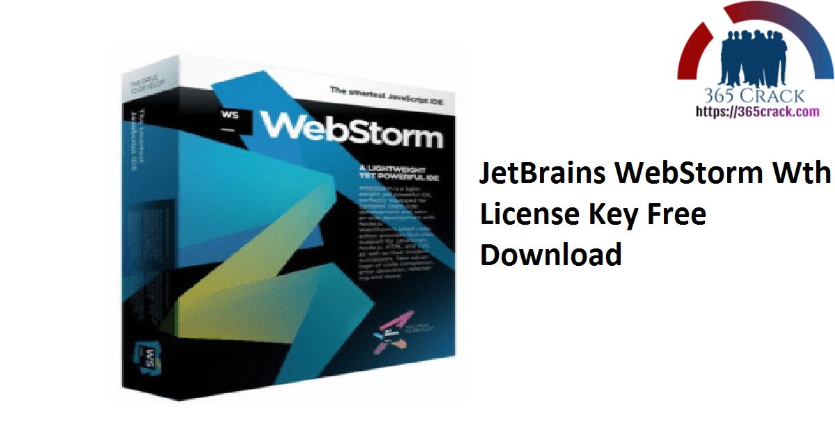 JetBrains WebStorm Wth License Key Free Download