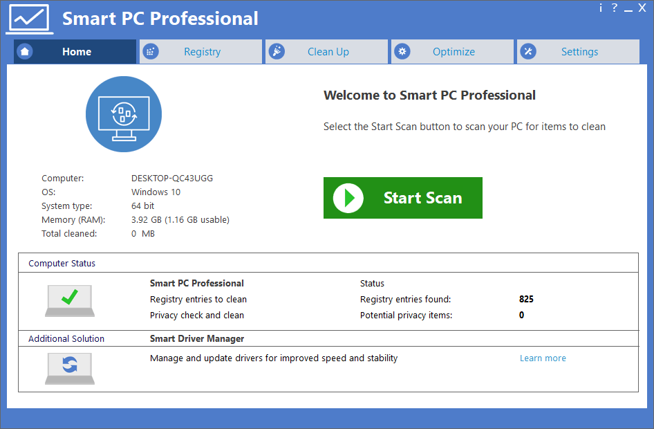 Smart PC Professional 6.2 Crack