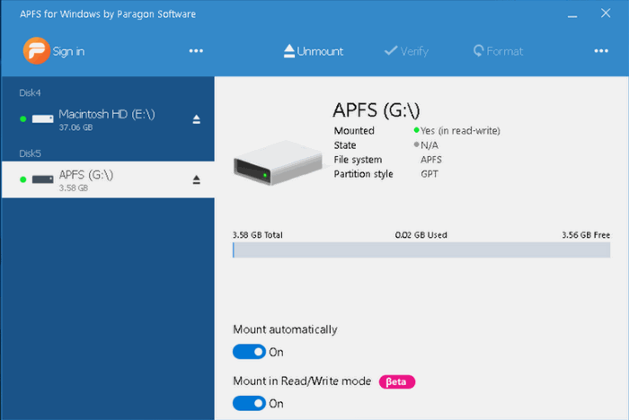 Paragon APFS for Windows 2.1.82 Crack