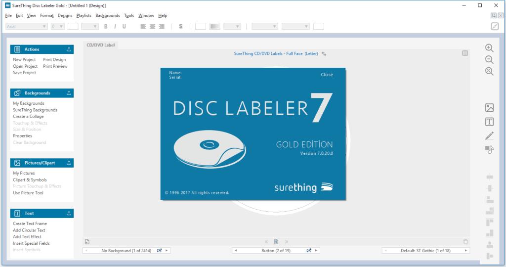 SureThing Disk Labeler Deluxe Gold 7.0.95.0 Crack
