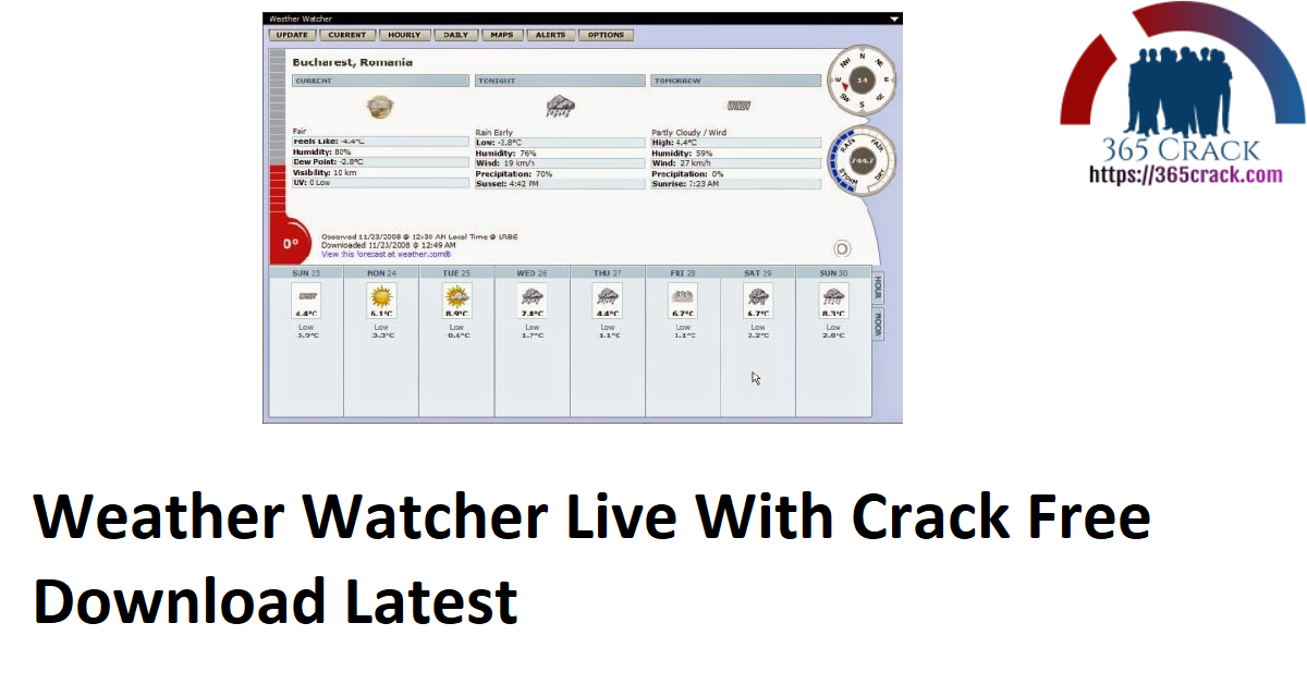 Weather Watcher Live With Crack Free Download Latest