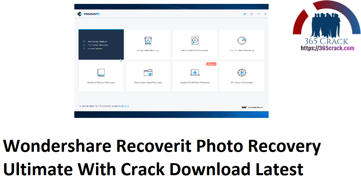 Wondershare Recoverit Photo Recovery Ultimate With Crack Download Latest