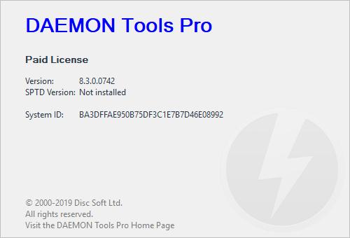 DAEMON Tools Pro 8.3. 0.0759 Crack