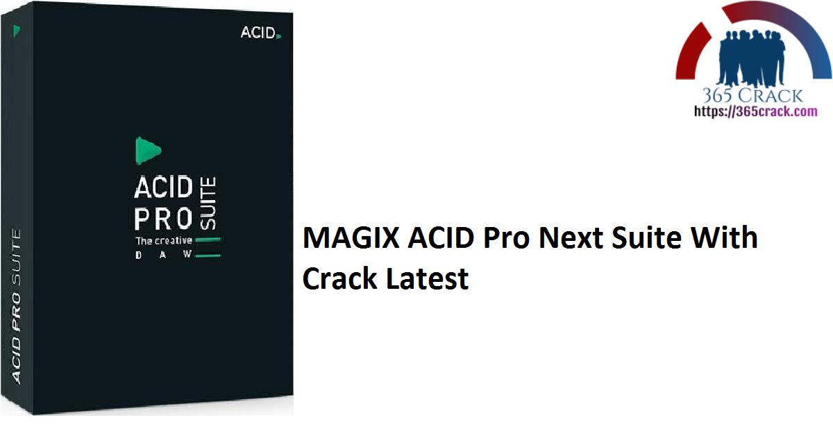 MAGIX ACID Pro Next Suite With Crack Latest