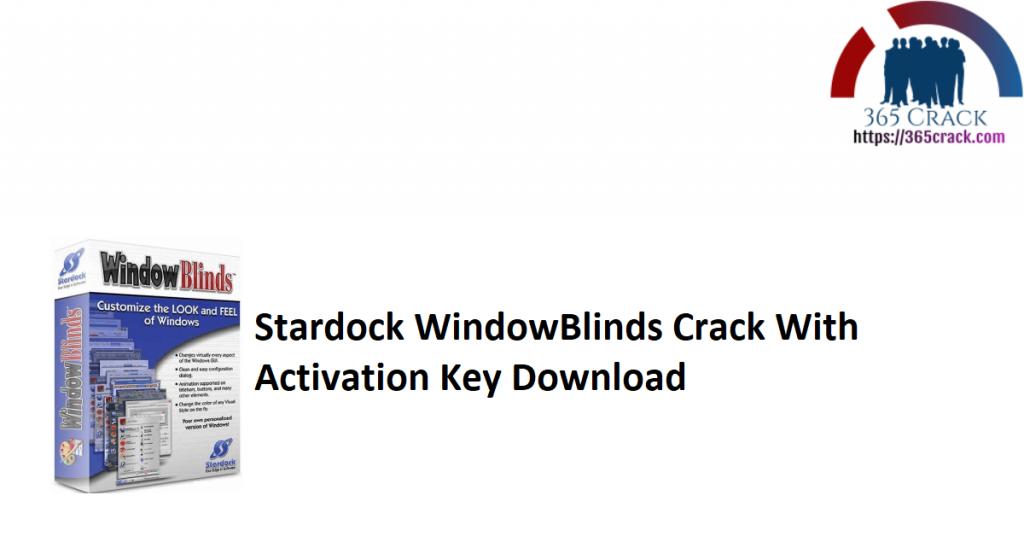 Stardock WindowBlinds Crack With Activation Key Download