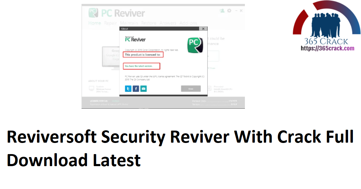 Reviversoft Security Reviver With Crack Full Download Latest