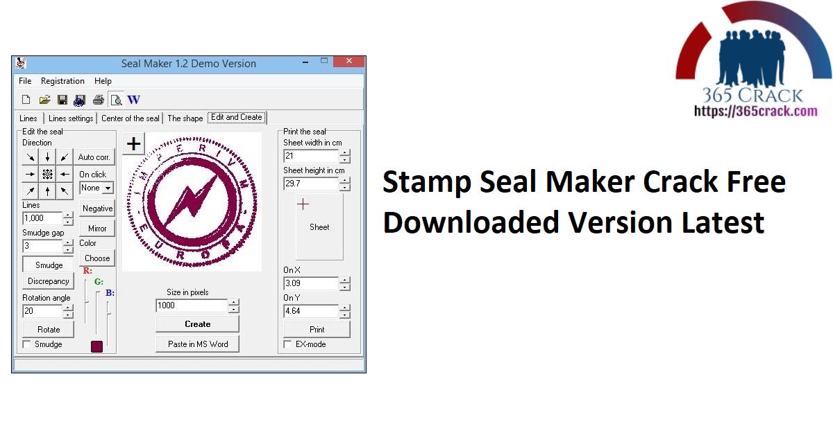 Stamp Seal Maker Crack Free Downloaded Version Latest