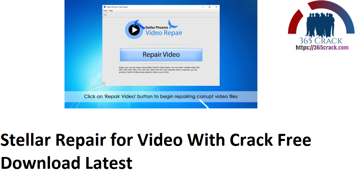 Stellar Repair for Video With Crack Free Download Latest