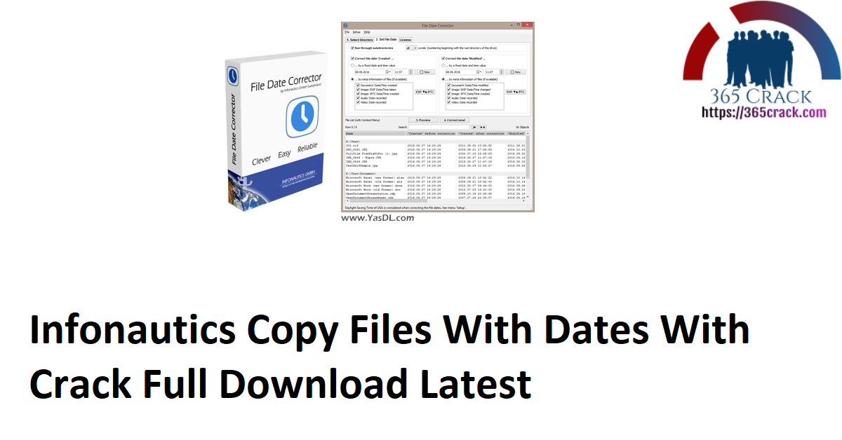 Infonautics Copy Files With Dates With Crack Full Download Latest