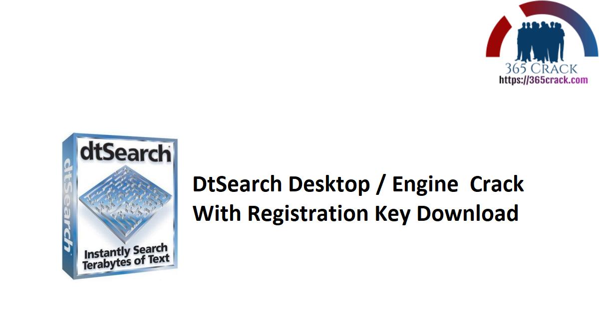 DtSearch Desktop / Engine Crack With Registration Key Download