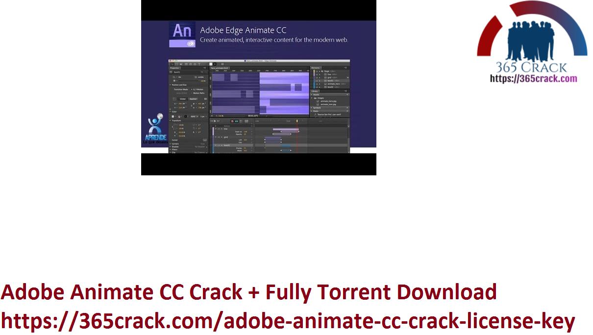 Adobe Animate CC Crack + Fully Torrent Download