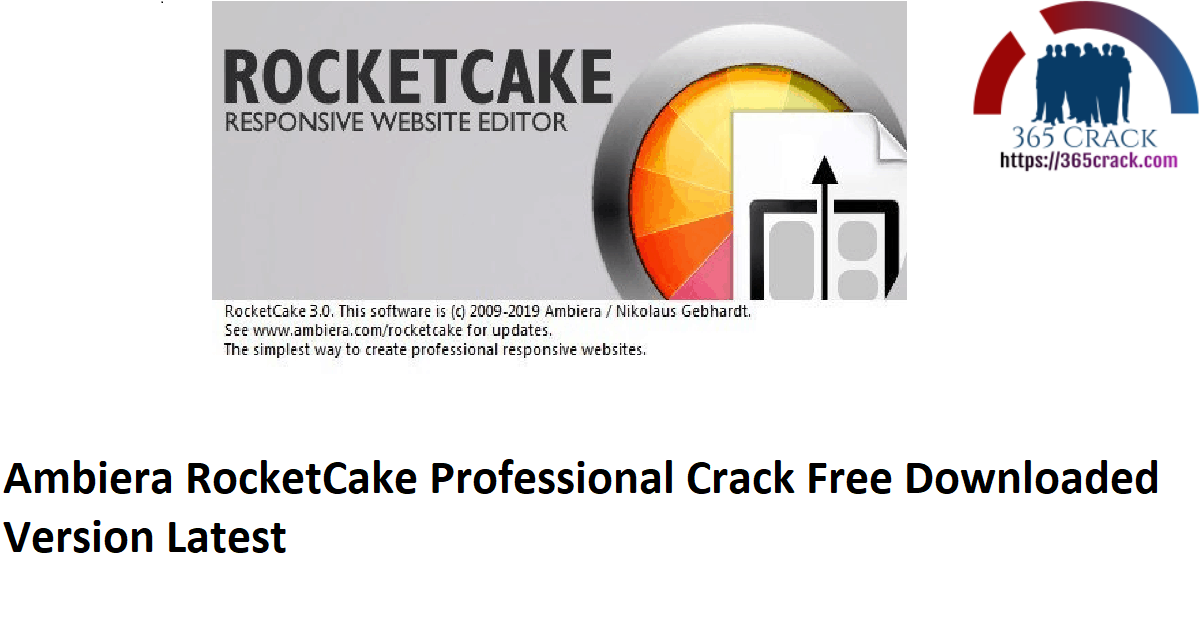Ambiera RocketCake Professional Crack Free Downloaded Version Latest