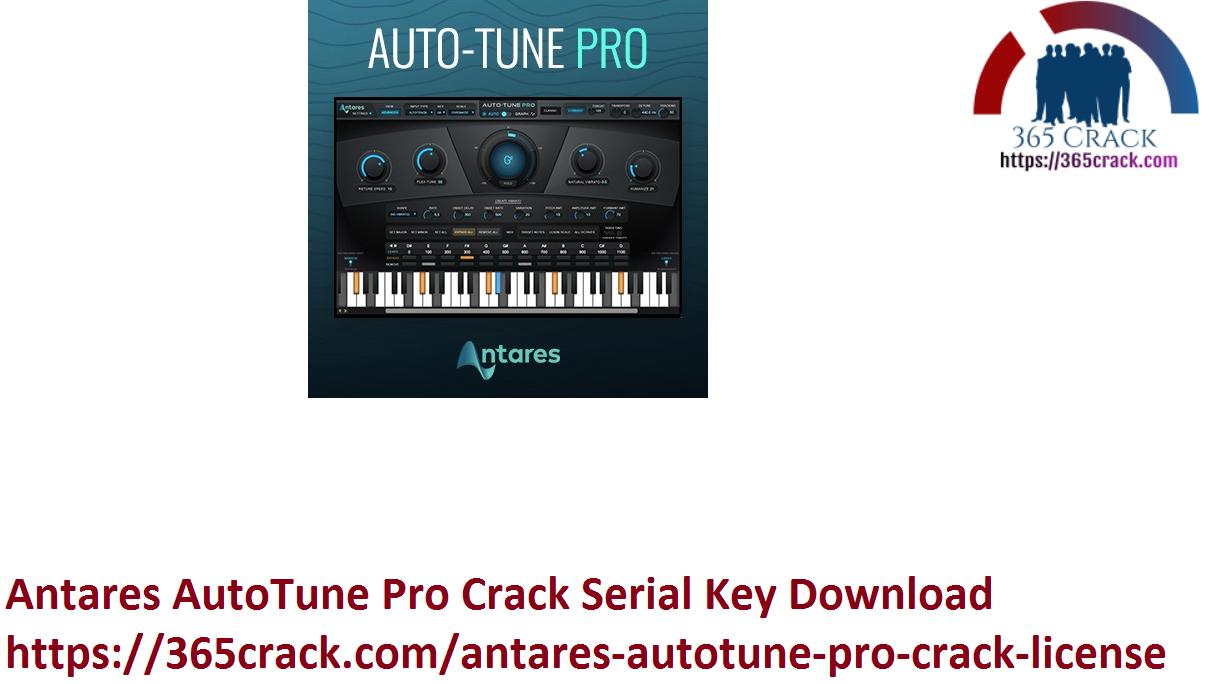 Antares AutoTune Pro Crack Serial Key Download