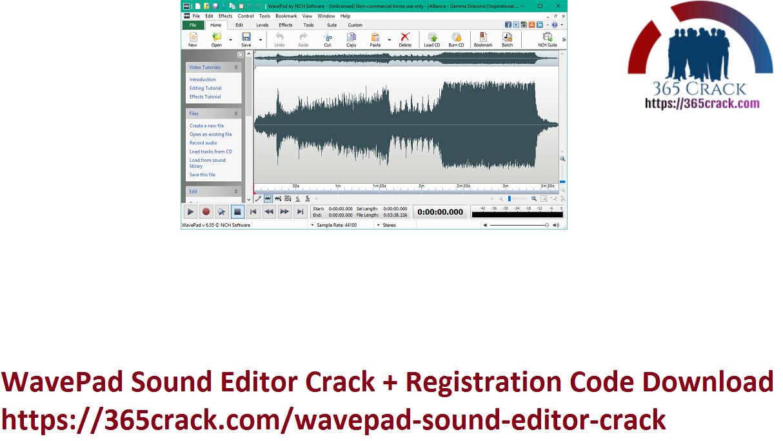 WavePad Sound Editor Crack + Registration Code Download