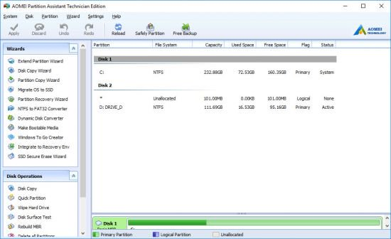 AOMEI Partition Assistant Technician Crack With Activation Keys Download