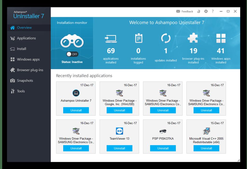 Ashampoo UnInstaller Crack With Registration Key Download
