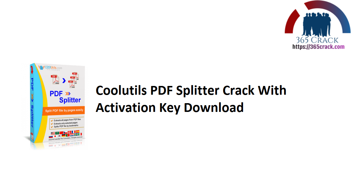 Coolutils PDF Splitter Crack With Activation Key Download