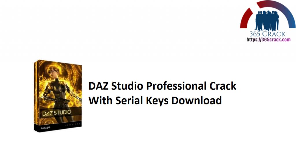 DAZ Studio Professional Crack With Serial Keys Download