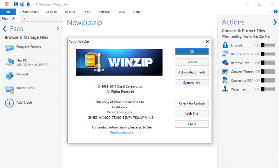 WinZip Disk Tools Crack With Registration Key Download