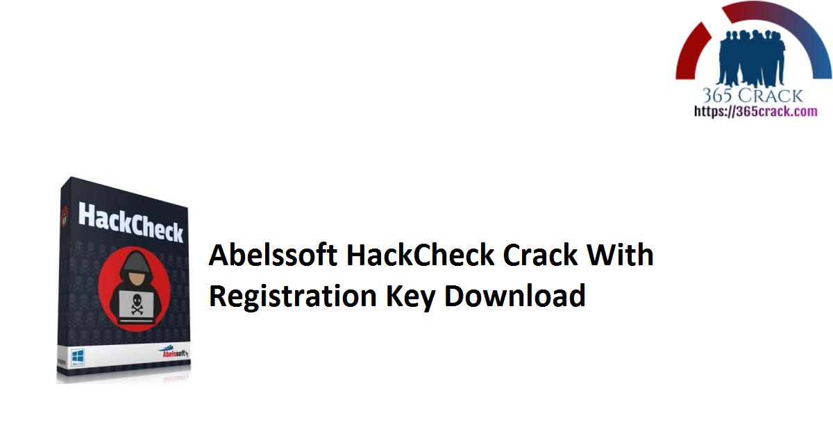 Abelssoft HackCheck Crack With Registration Key Download