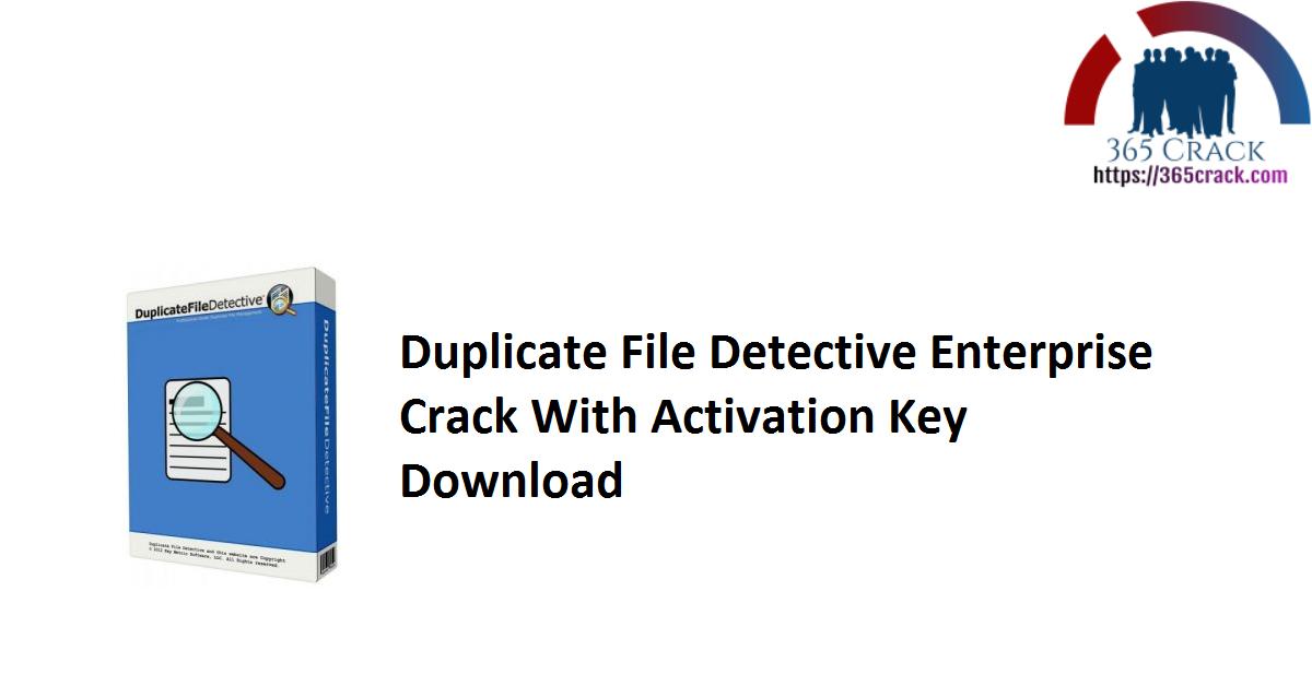 Duplicate File Detective Enterprise Crack With Activation Key Download
