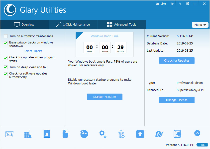 Glary Utilities Pro Crack With Registration Key Download
