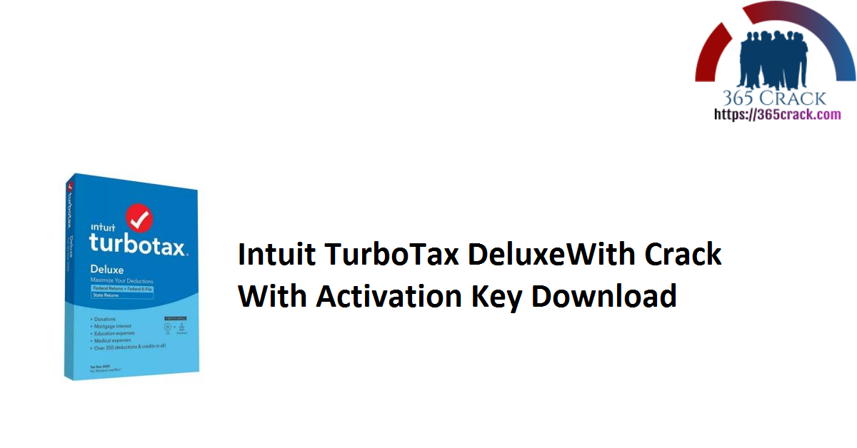 Intuit TurboTax DeluxeWith Crack With Activation Key Download