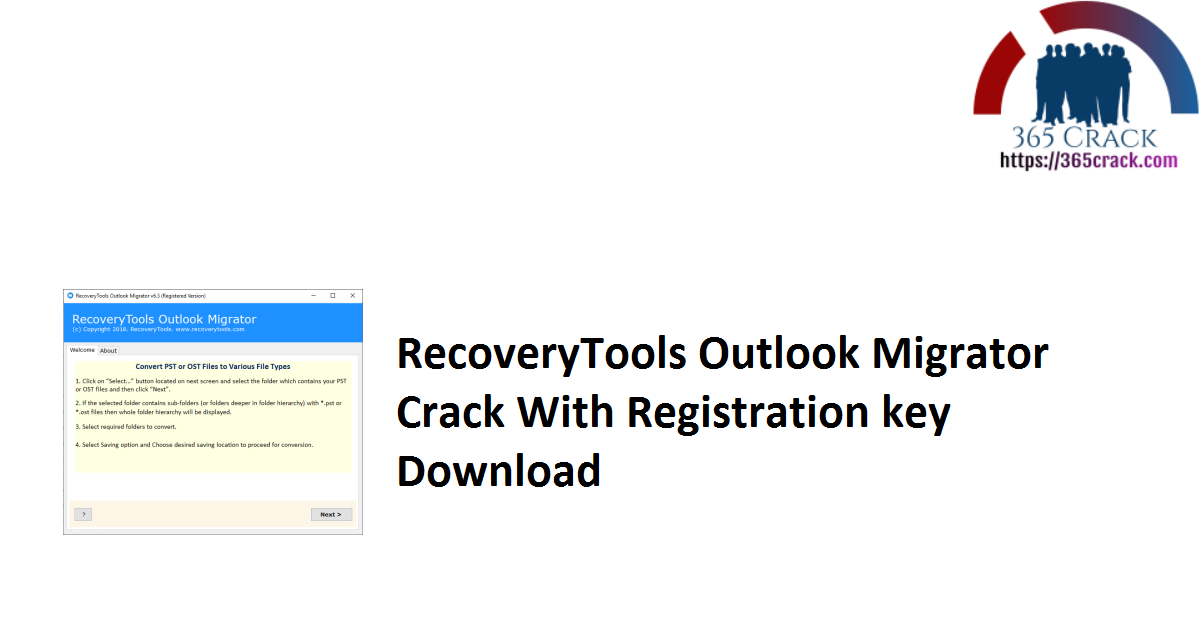 RecoveryTools Outlook Migrator Crack With Registration key Download