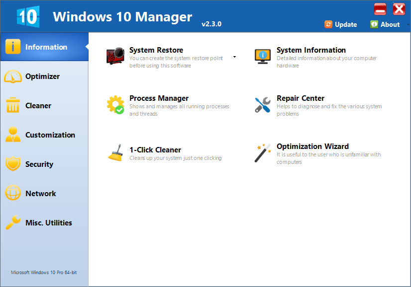 Yamicsoft Windows 10 Manager Crack With Serial Key Download