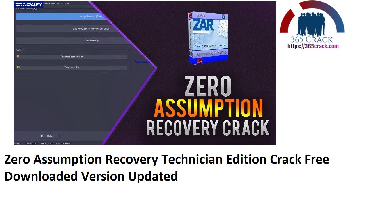 Zero Assumption Recovery 10.0 Build 2080 Technician Edition Crack